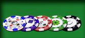 Les jetons de casino — Stock Photo