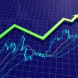 Stock Photo: Forex chart with trend arrow
