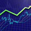 Royalty-Free Stock Photo: Forex chart with trend arrow