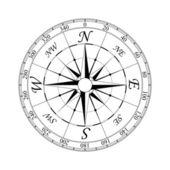 Rosa de los vientos # 2 — Vector de stock