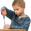 Royalty-Free Stock Photo: A boy with a screwdriver