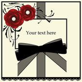 红玫瑰和黑弓架 — 图库矢量图片