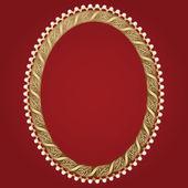 Telaio vintage oro — Vettoriale Stock