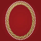 Vintage gold frame — Stock Vector