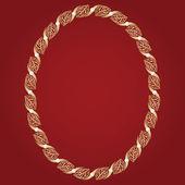 Vintage gold frame — Stock Vector