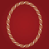 Vintage guld ram — Stockvektor