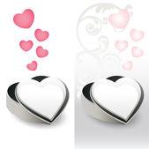 Heart-shaped gift box — Stock Vector