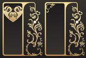 Vintage gouden frames — Stockvector