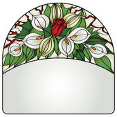 Frame with flowers — 图库矢量图片