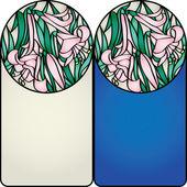 Rama z liliami — Wektor stockowy