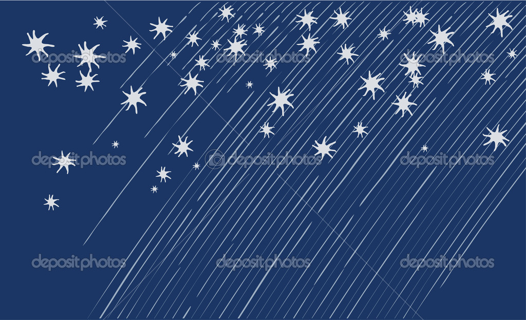 Background with silver stars. Vector illustration. — Stock Vector #5355660