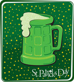 Patrick's green beer — Vector de stock