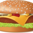 Cheeseburger - Stock Vector