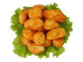 Hot roasted potatoes — Stock Photo