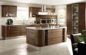 Moderne luxe keuken en eetkamer interieur — Stockfoto