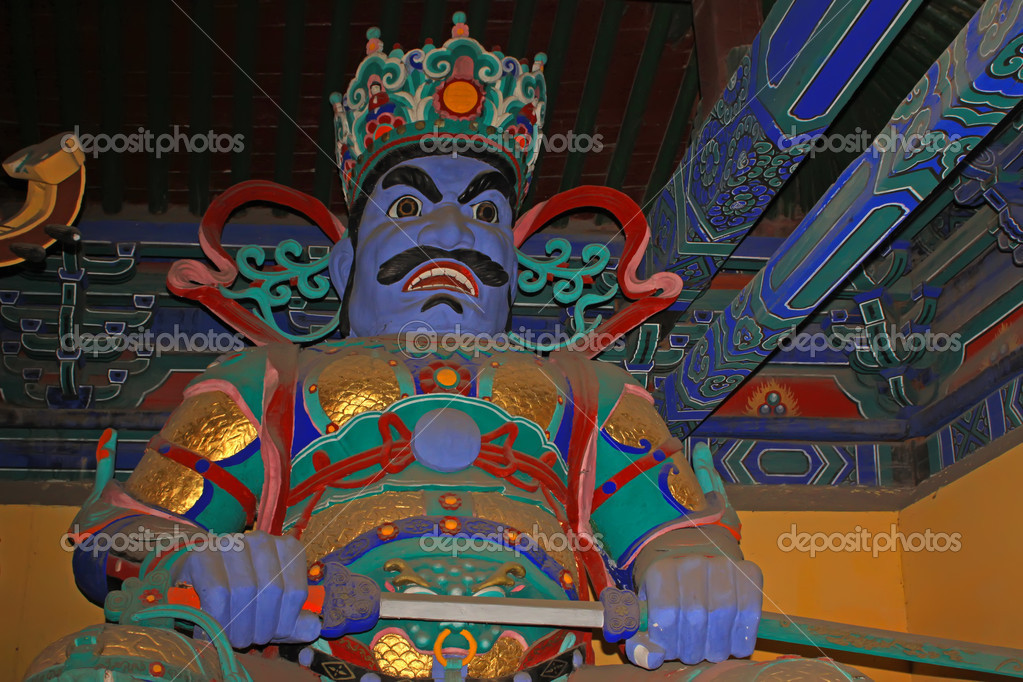 Chinese buddhist tradition sculpture in a temple in china — Stock Photo #5357522