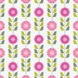 Seamless pink floral pattern — Stock Vector #5126894