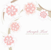 Romantic Pink Flower Background — Stock Vector
