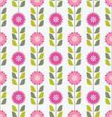 Seamless pink floral pattern — Stock Vector