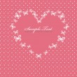 Pink Valentines day card with heart — Vector de stock