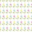 Stock Vector: Seamless spring floral pattern