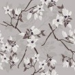 Cтоковый вектор: Cherry blossom seamless pattern