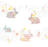 Cute seamless easter rabbit pattern — Stock Vector