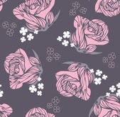 Seamless vintage rose pattern — Stock Vector