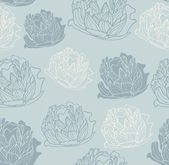 Seamless vintage peony pattern — Stock Vector