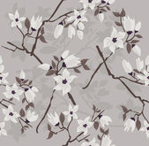 Cherry blossom seamless pattern — Stock Vector