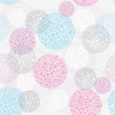 Abstract seamless circle pattern — Wektor stockowy