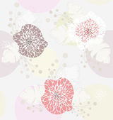 Cute pastel spring floral pattern — Stock Vector