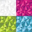 Abstract vector backgrounds set — ストックベクタ