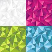 Abstract vector backgrounds set — Stockvector