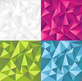 抽象的なベクトルの背景のセット — ストックベクタ