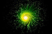Abstract green telecommunications swirl — Stock Photo