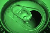 Green aluminium recycling — Stock Photo