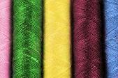 Cotton thread background — Stock Photo