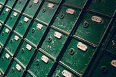 Vintage mail boxes — Stock Photo