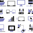 Connection, communication icons set — Foto de Stock