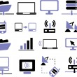 Connection, communication icons set — Stock Photo