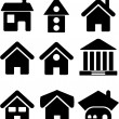 Houses icons set — Stock Photo