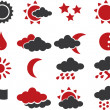 16 weather signs. — Stock Photo
