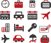 16 travel signs. — Stock Photo