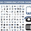 100 communication signs — Stock Vector #4963621