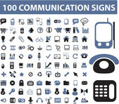 100 communication signs — Stock Vector