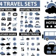 100 travel signs — Stock Vector