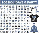 100 holidays — Vetorial Stock