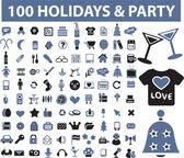 100 holidays — Stock Vector