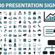 Stock Vector: 100 presentation signs